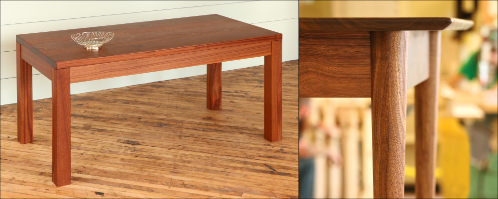 A Guide To Table Top Thickness TableLegscom - Thick wood table top